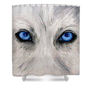 Wolf Eyes Shower Curtain