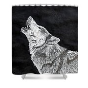 Wolf Howl Shower Curtain