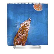 Wolf In The Night Shower Curtain