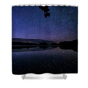 Wolf Lake At Night 1 Shower Curtain