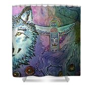 Wolf Protector Shower Curtain