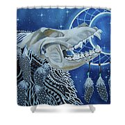 Wolf Skull Shower Curtain