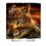 Wolfland Shower Curtain