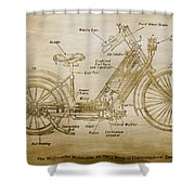 Wolfmueller Motor Cycle 1894 Shower Curtain