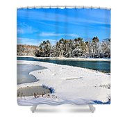 Wolf's Neck Farm Road Shower Curtain