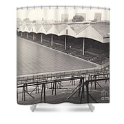 Wolverhampton - Molineux - Molineux Street Stand 1- Bw - Leitch - September 1968 Shower Curtain