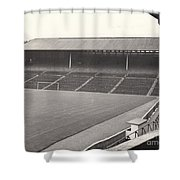 Wolverhampton - Molineux - South Terrace 1 - Bw - Leitch - September 1968 Shower Curtain