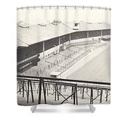 Wolverhampton - Molineux - Waterloo Road Stand 1 - Bw - Leitch - September 1968 Shower Curtain