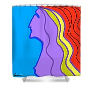 Woman 6 Shower Curtain