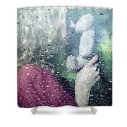Woman And Teddy Shower Curtain