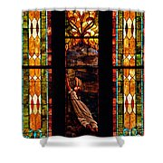 Woman And The Cross Shower Curtain