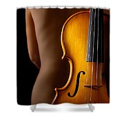 Woman And Violin Shower Curtain