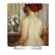 Woman At A Dressing Table Shower Curtain