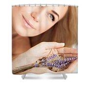 Woman At Beauty Salon Shower Curtain