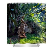 Woman At The Fountain Shower Curtain