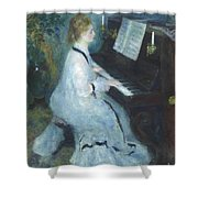 Woman At The Piano Shower Curtain