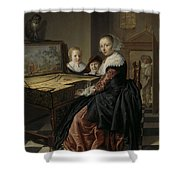 Woman At The Virginal Shower Curtain