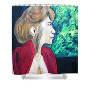 Woman At The Window Shower Curtain