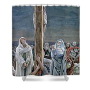 Woman Behold Thy Son Shower Curtain