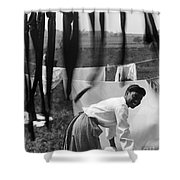 Woman Doing Laundry, C1902 Shower Curtain