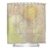 Woman Head  Shower Curtain