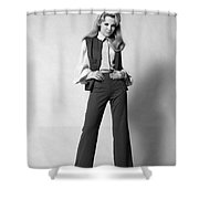 Woman In A Pantsuit, C.1960-70s Shower Curtain