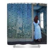 Woman In Abandoned House Shower Curtain by Jill Battaglia