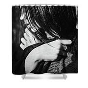 Woman In Alpaca Shower Curtain
