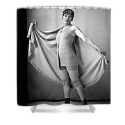 Woman In Bathing Suit And Cape, C.1920s Shower Curtain
