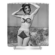 Woman In Bikini, C.1950s Shower Curtain