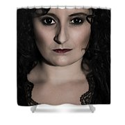 Woman In Black Shower Curtain