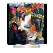 Woman In Color Shower Curtain