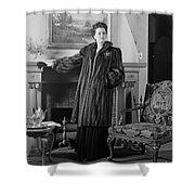 Woman In Fur Coat, C.1940s Shower Curtain