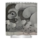 Woman In Grey  2004 Shower Curtain