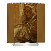 Woman In Head-dress-also At Big.fishery.webs.com Shower Curtain