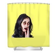 Woman In Horror Makeup Shower Curtain