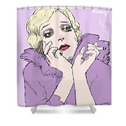 Woman In Lavender Shower Curtain