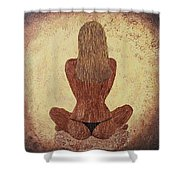 Woman In Lotus Shower Curtain