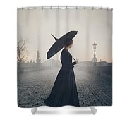 Woman In Mourning Shower Curtain