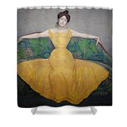 Woman In A Yellow Dress Shower Curtain