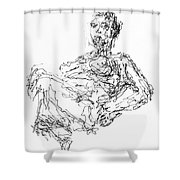 Woman In Repose 4483 Shower Curtain
