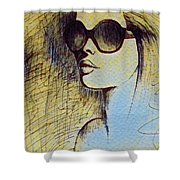 Woman In Sunglasses Shower Curtain