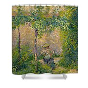Woman In The Garden Shower Curtain