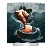 Woman In The Water  Shower Curtain