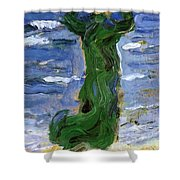 Woman In The Wind By The Sea 1907 Shower Curtain
