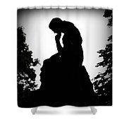 Woman In Thought Shower Curtain