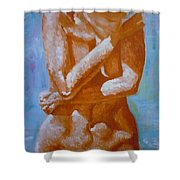 Woman In Water Shower Curtain