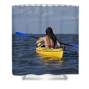 Woman Kayaking Shower Curtain