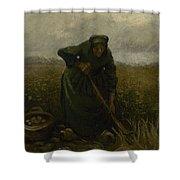 Woman Lifting Potatoes Nuenen, July - August 1885 Vincent Van Gogh 1853 - 1890 Shower Curtain