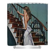 Woman On A Staircase 3 Shower Curtain